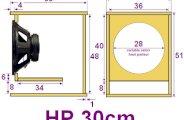 Plan caisson de basse pour haut parleur 30cm