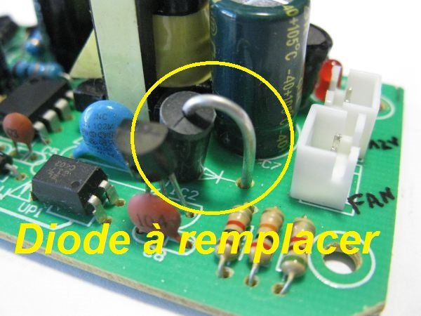 panne alimentation 12V led