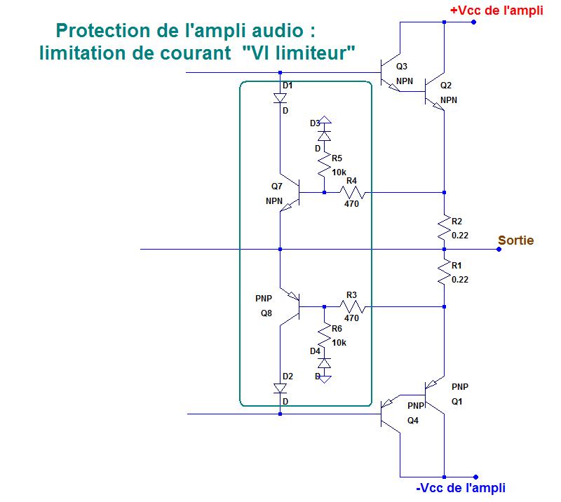 protection court circuit ampli relais