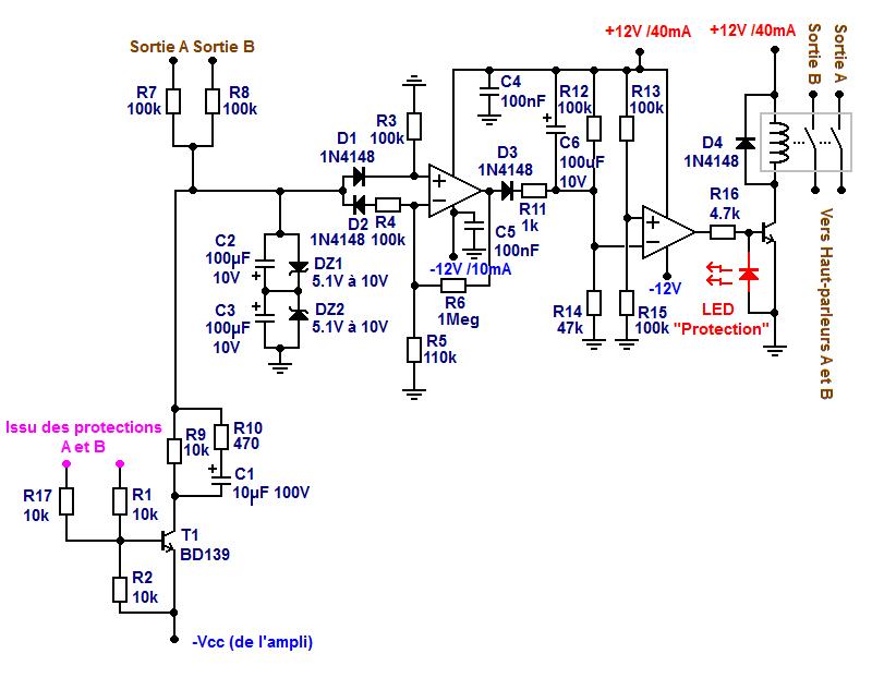 protection relais ampli