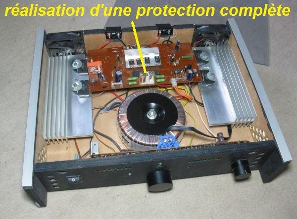 schema ampli protection relais