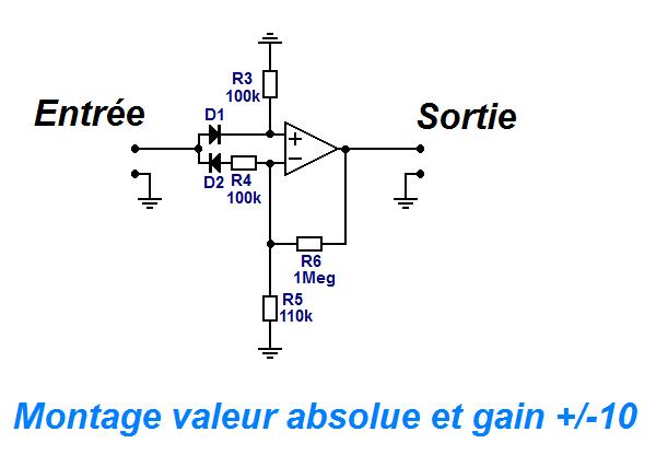 schema redresseur double alternance ampli op