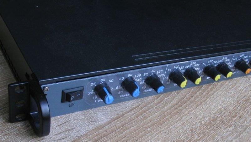 filtre actif audio 3 voies rack 19 pouces