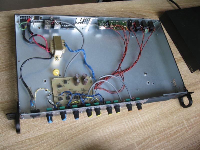 filtre actif audio 3 voies réalisé