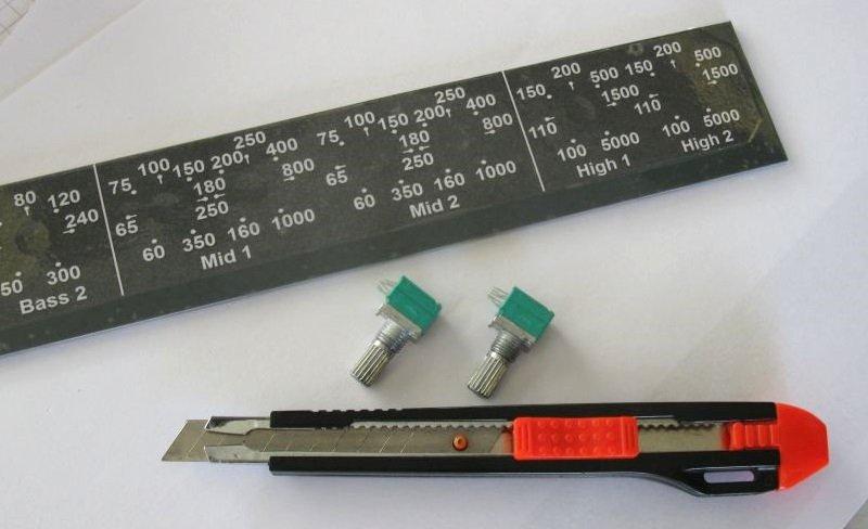 potentiomètre filtre actif audio