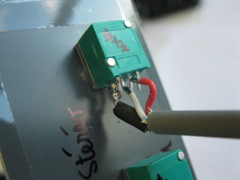 potentiomètre stéréo double filtre actif