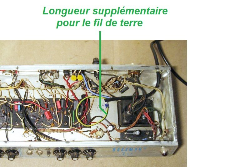liaison terre chassis boucle masse ampli