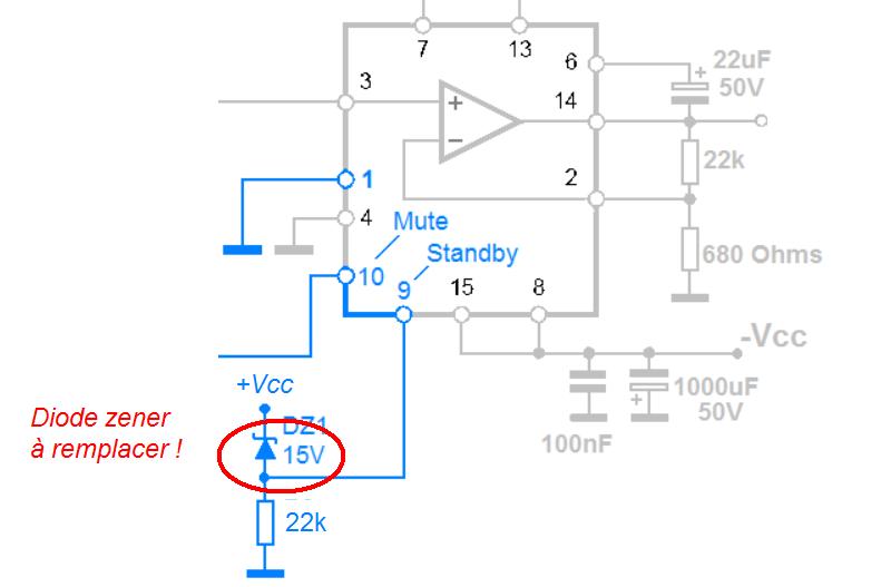 schema mute standby TDA7294