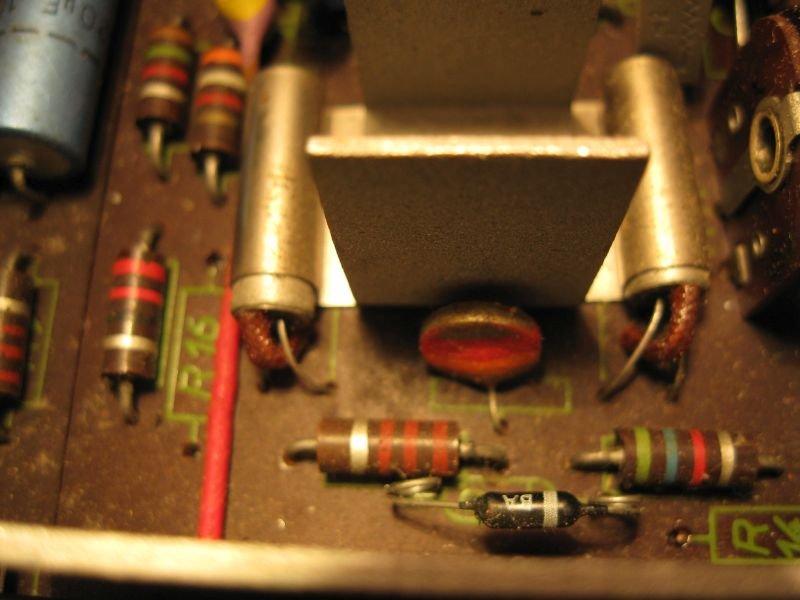ntc resistance bias ampli transistor germanium