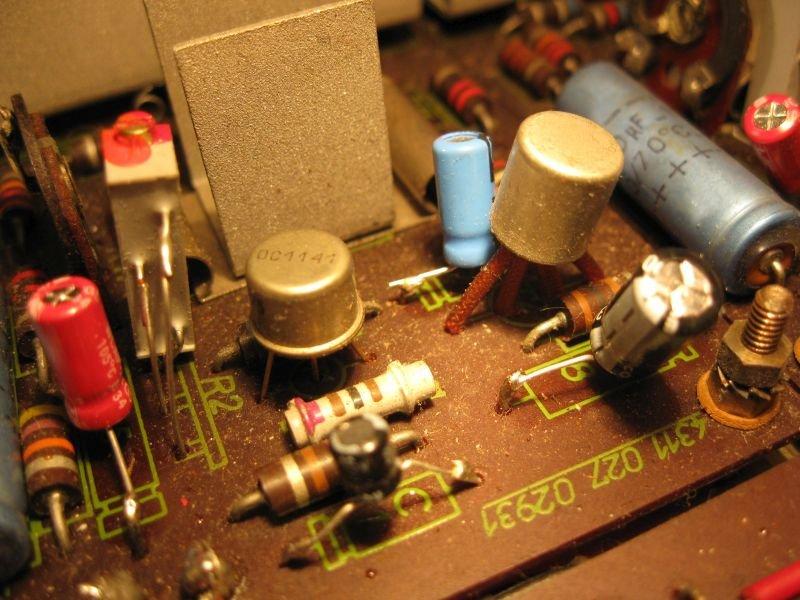 transistor ampli germanium silicium