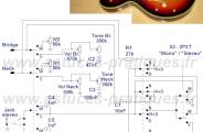 Schéma câblage guitare électrique stéréo