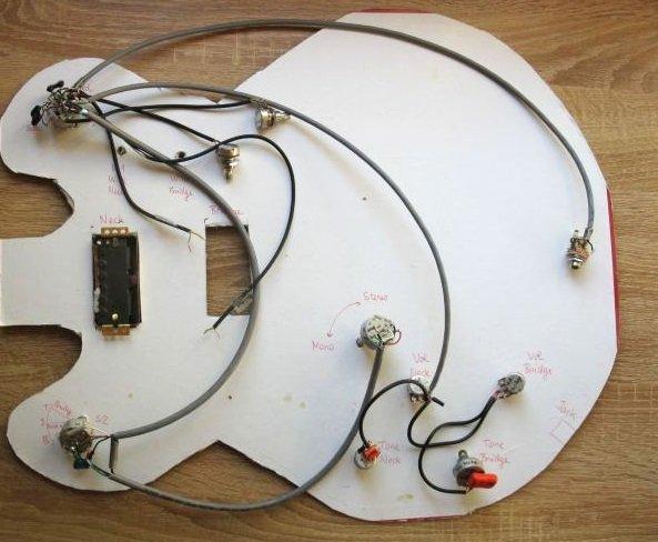 cablage guitare stereo micro jack