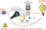 Sch ma gradateur de lumi re ultra simple 2000w astuces pratiques - Schema electrique lumiere ...
