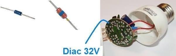 diac 32V ampoule variateur