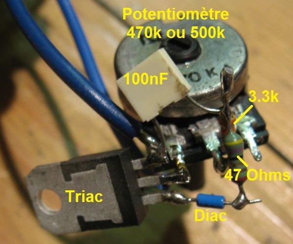 variateur de lumière simple 100W