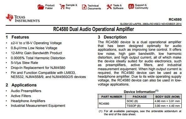 ampli op preampli phono RC4580