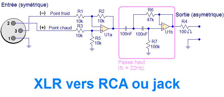 schema preampli preamp xlr