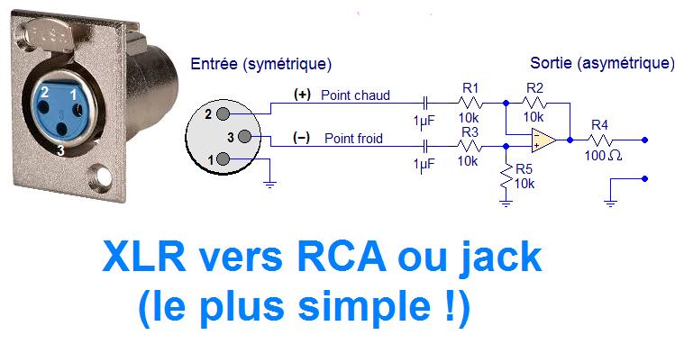 Schema Collegamento Xlr Rca : Schéma préampli xlr simple astuces pratiques