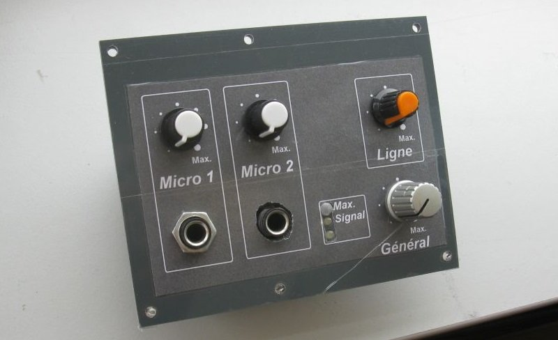 schema table mixage simple preampli micro