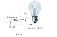 Tester une ampoule avec une pile