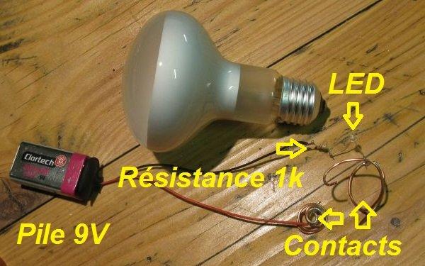 tester ampoule led pile