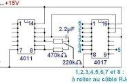 Testeur de cable RJ45 simple (schéma)