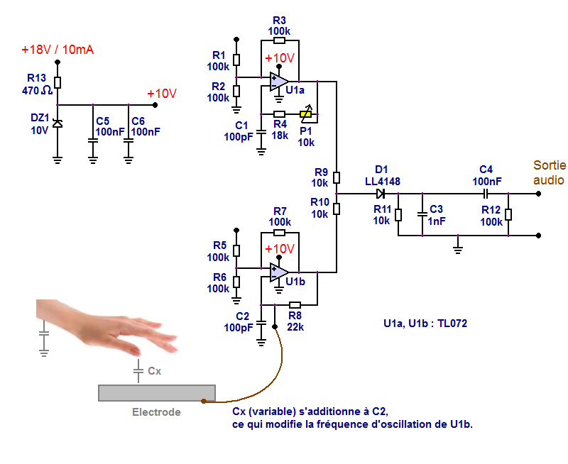 theremine schema simple