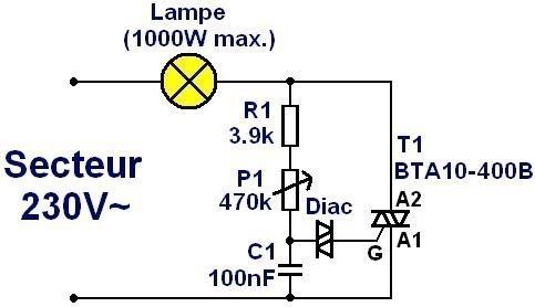 variateur a triac fonctionnement et schema 0