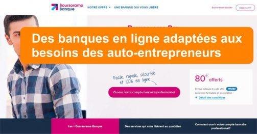 banques en ligne auto-entrepreneurs micro-entrepreneurs