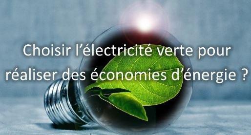 faire des economie energie electricite verte