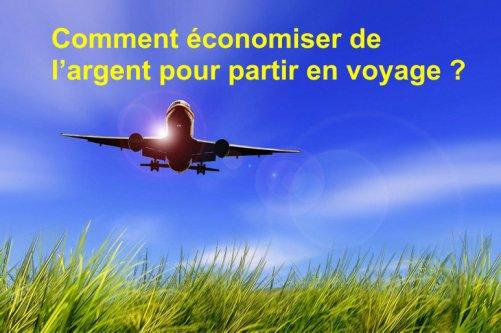 economiser argent partir voyage