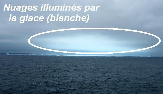 Navigation dans l'Arctique : ice blink et water sky