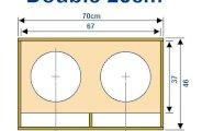 Plan caisson de basse double 25cm
