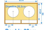 Plan de caisson de basse double 38cm