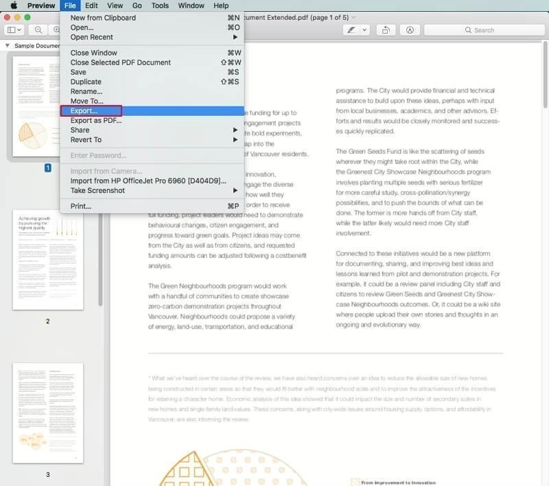 enregistrer image depuis pdf avec apercu mac