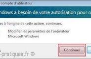 Désactiver le controle de compte utilisateur uac sur vista