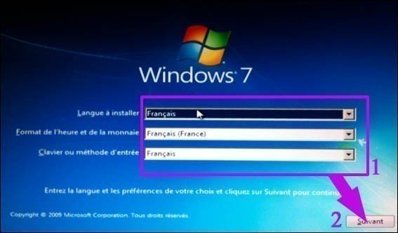 choix langue windows 7