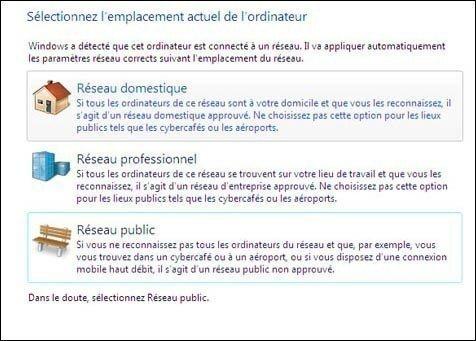 choix réseau windows 7