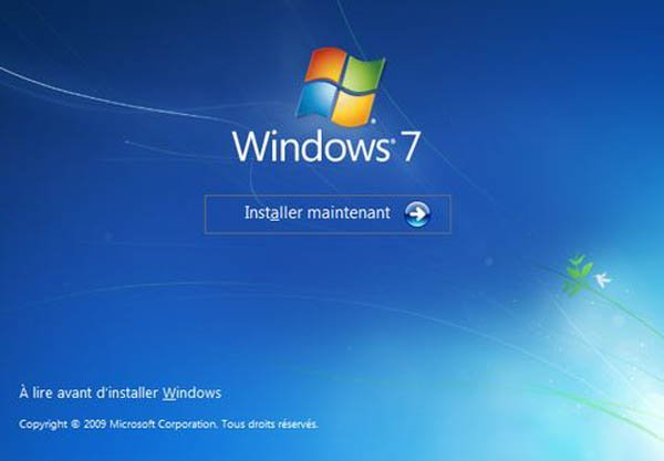 Installation de windows 7 seven 1