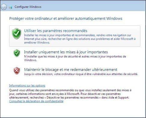 mise a jour windows 7