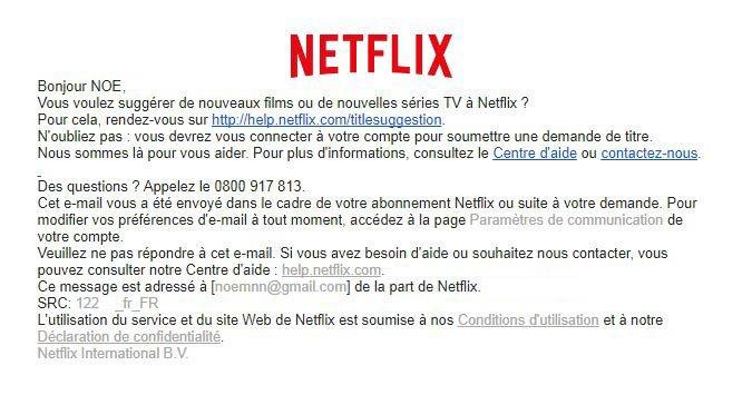 mail suggestion films netflix