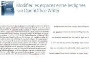 Modifier l'espace entre les lignes sur Open office