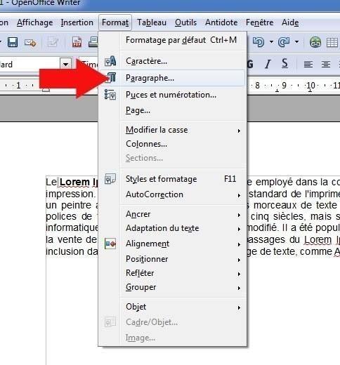 Modifier l 39 espace entre les lignes sur open office - Comment faire un organigramme sur open office ...