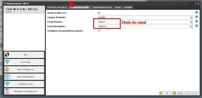 resoudre probleme changer canal wifi freebox