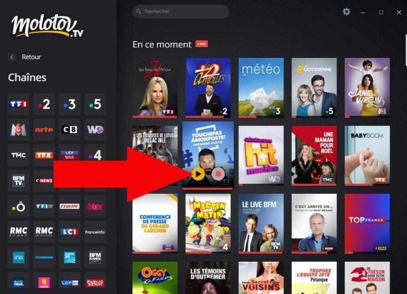 lancement chaine tv sur ordinateur