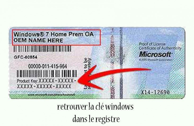 retrouver licence windows ProduKey