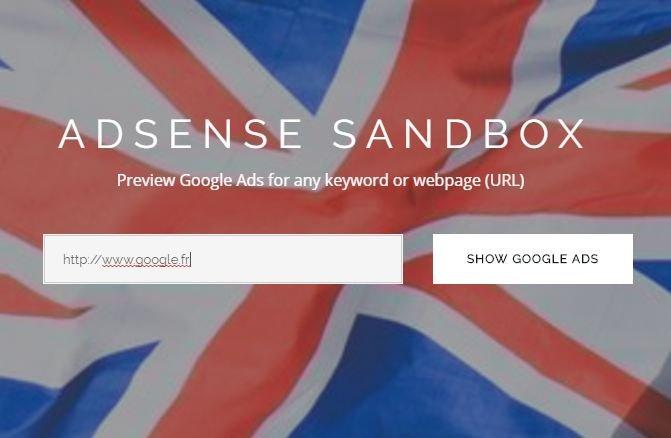 sandbox google adsense