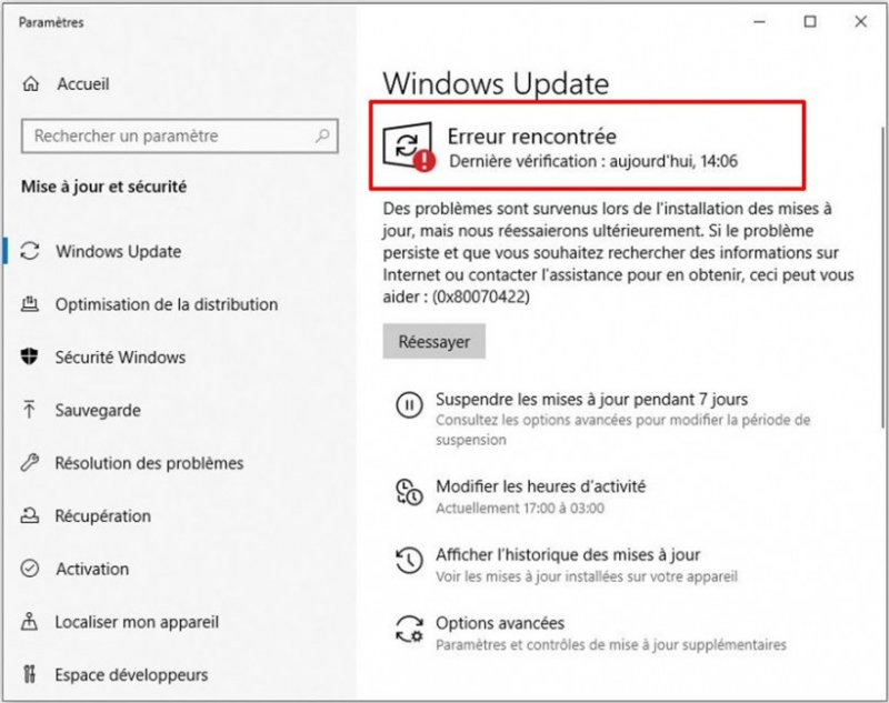 mise a jour automatique de windows 10 desactivees