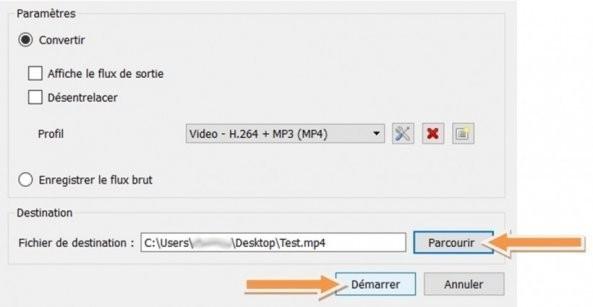 fix de vlc pour la capture de votre video ecran