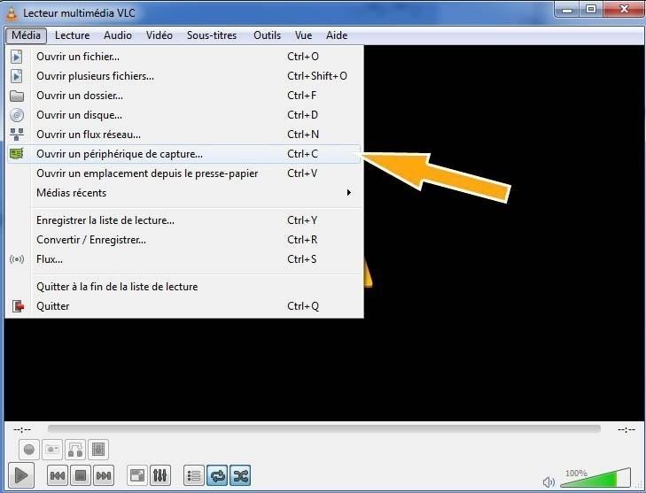 réparation bug vlc capture video
